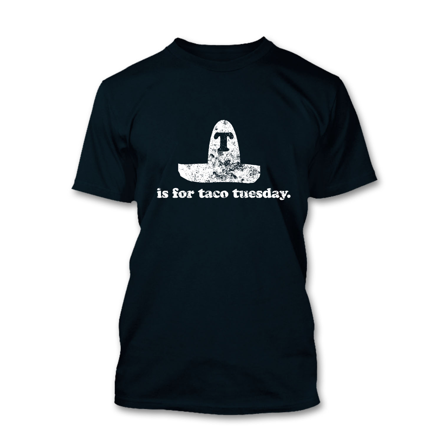 FROSTY-TEES-MENS-T-IS-FOR-TACO-TUESDAY-MEXICAN-SOMBRARO-HAT-HEAVY-T-SHIRT-TEE