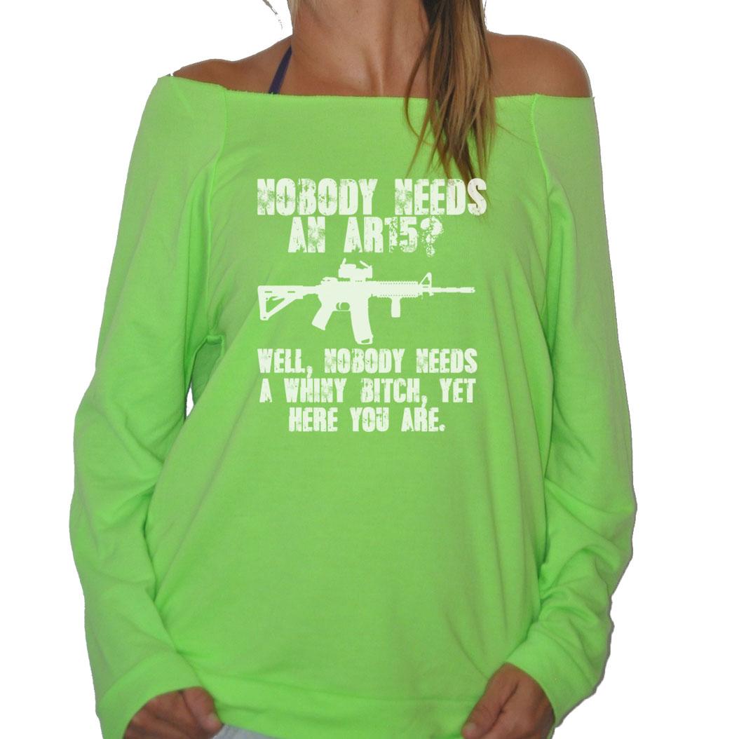 FROSTY-TEES-WOMENS-NOBODY-NEEDS-AN-AR-15-PRO-GUN-GUNS-TERRY-RAGLAN-SWEATSHIRT
