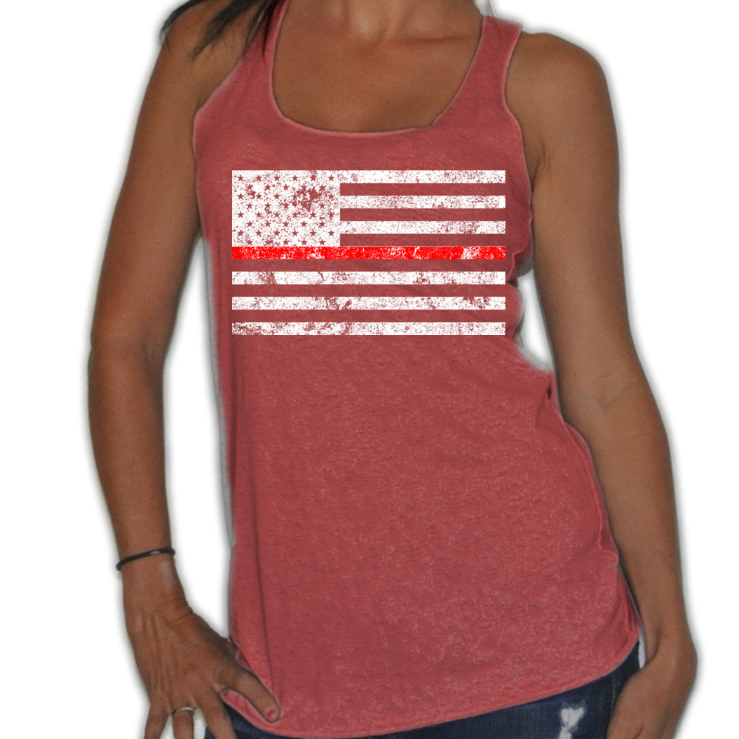 WOMENS-HI-DEF-DISTRESSED-USA-FLAG-RED-STRIPE-MILITARY-SOLDIER-FLOWY-TANK-TOP