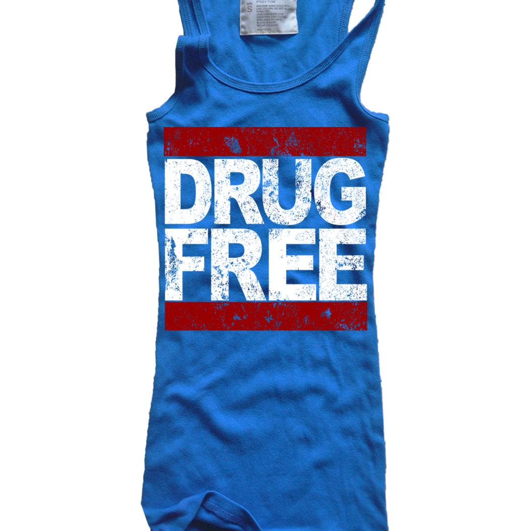 WOMENS-DRUG-FREE-LOGO-WHITE-RED-SE-STRAIGHT-EDGE-PUNK-ROCK-RIBBED-TANK-TOP